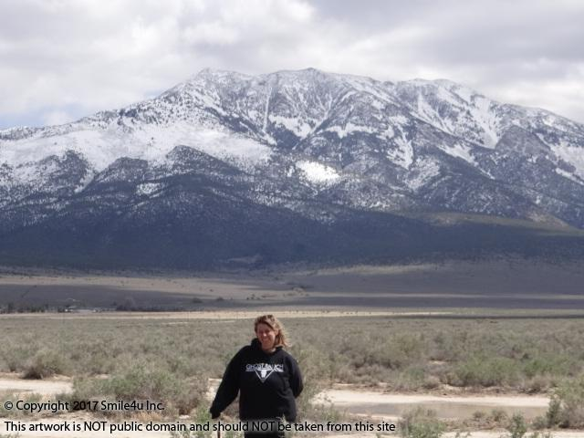 <B>Char standing on the property for sale in Clover Acres in Montello, Nevada. That