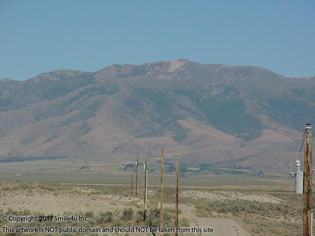 <B>Pretty views across Dennis Flats where the N Fork of the Humboldt River meanders below the Ruby Mountains! Oh she