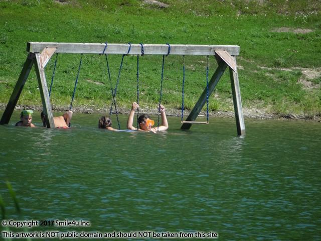 <B>I just love this photo of the kids playing in Lake Chaparral hillbilly style - reminds me of my siblings when we were young! Located about an hour S of Kansas City, KS, it