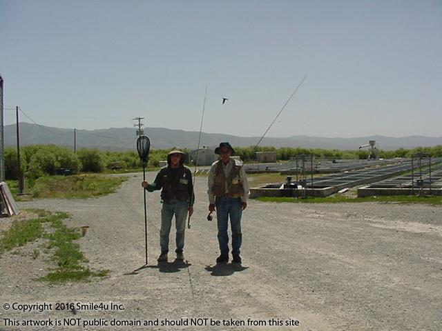 <B>In June 2004 I met these two gentlemen fishing at Ruby Lake National Wildlife Refuge which sits on the SE side of the Ruby Mountains about 60 miles from these properties. I asked if this was their favorite fishing place in this county and they let me know that this was the best fishing place in the state!