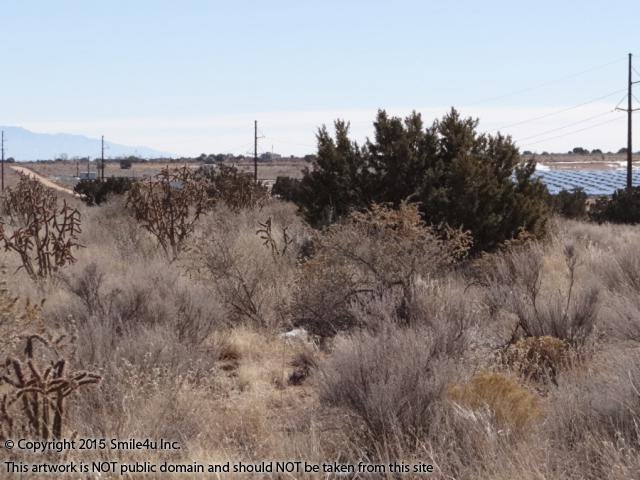 <B>1.96 acre lot for investment or horse property in Sandoval County, NM assessed at over $8000! An interesting big chunk of land for sale in Rio Rancho Estates Unit 6 in New Mexico about 1/2 mile N of the new solar energy center. You can see the panels to the right of the tree. <br /> <br /> Its a pretty lot with an intermittent stream/wash thru the low point in the rolling hill with scattered trees and cactus.<br /> <br />