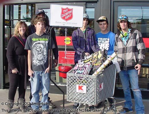 This is all of the stuff we donated to the family through the Salvation Army in Arizona!  We also donated to a family in Washington as well!  We are blessed for sure to be able to do this each year.  : )