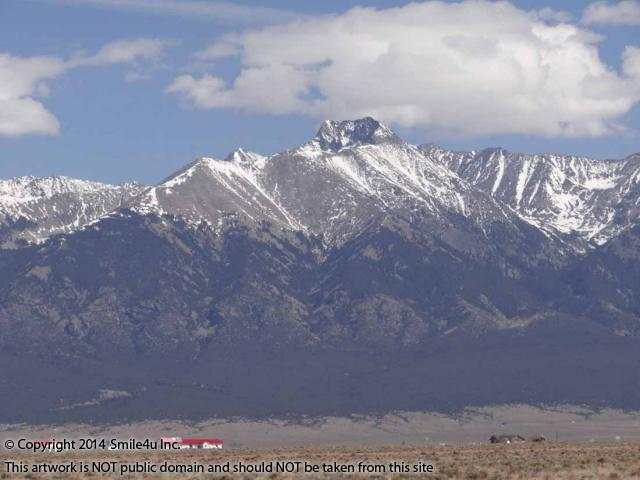 a beautiful view of blanca peak in the sangre de cristo